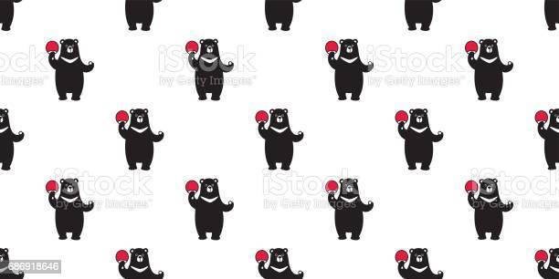 Bear polar bear buffalo bear play ping pong seamless pattern vector id686918646?b=1&k=6&m=686918646&s=612x612&h=izkotldqshqzaazucdans9cuald0anoflnwrtzpe9v4=