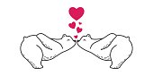 Bear Polar bear couple kiss Love valentine doodle illustration