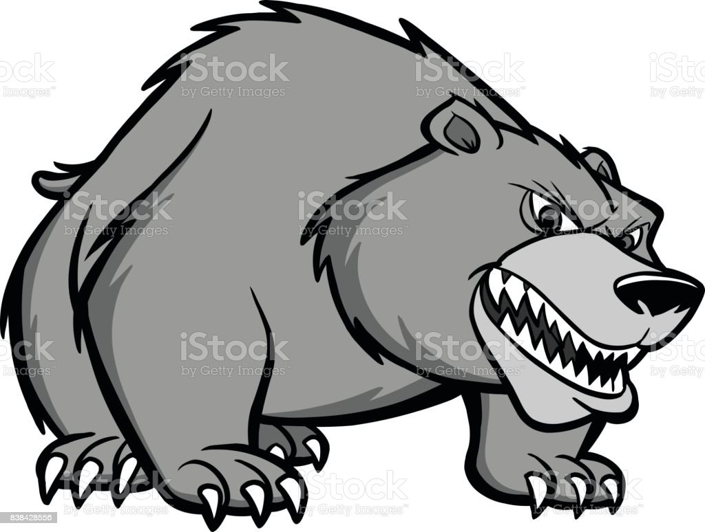 Bear Prowl Illustration vector art illustration