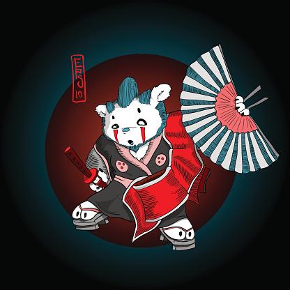 Bear samurai