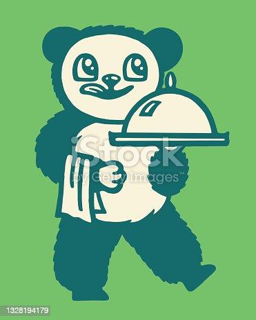 istock Bear Serving Dinner 1328194179