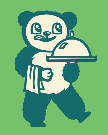 Bear Serving Dinner