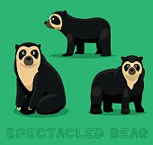 Bear Spectacled Bear Cartoon Vector Illustration