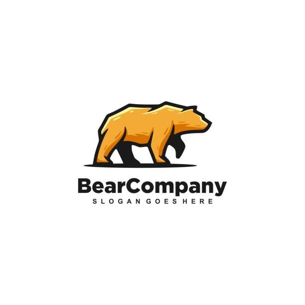 illustrations, cliparts, dessins animés et icônes de modèle de vecteur fort d'ours - ours