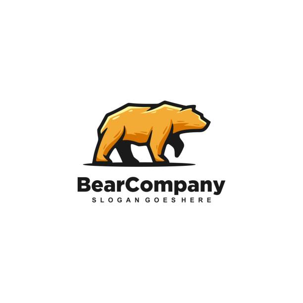 bear strong vector template - bear stock illustrations