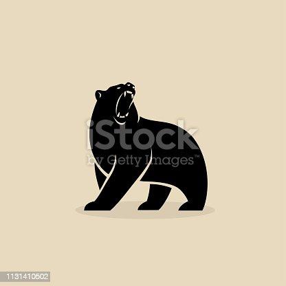 Bear symbol - isolated vector illustration