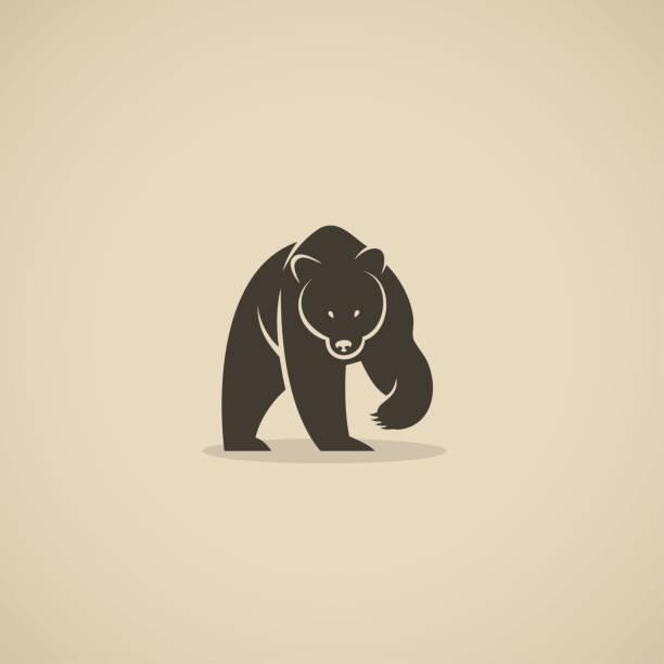 illustrations, cliparts, dessins animés et icônes de symbole d'ours-illustration vectorielle - ours