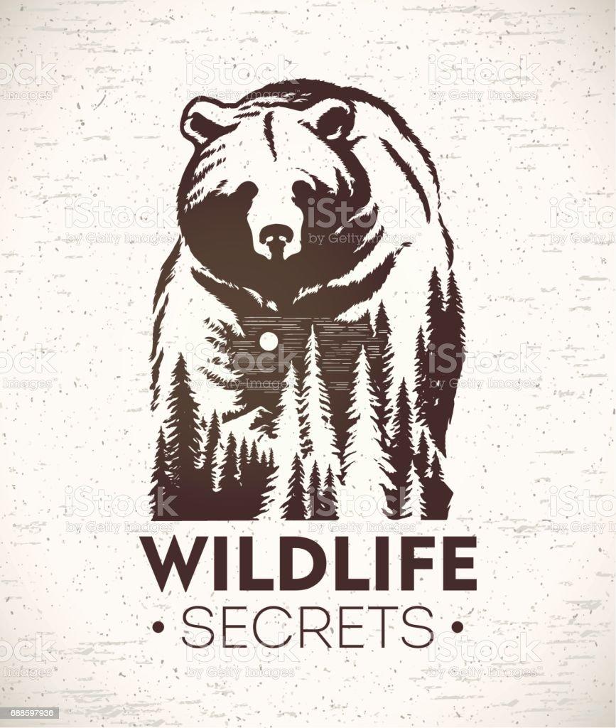 Bear symbolizing wildlife royalty-free bear symbolizing wildlife stock illustration - download image now