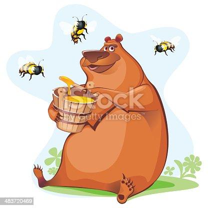 istock bear tasting honey 483720469