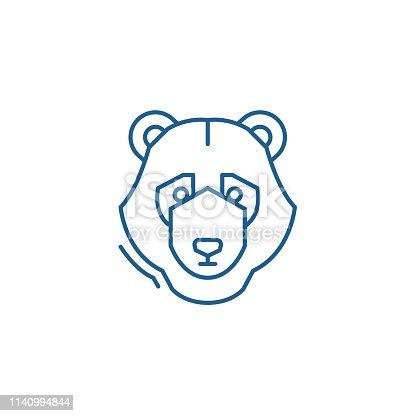 Bear trend line concept icon. Bear trend flat  vector website sign, outline symbol, illustration.