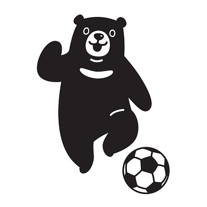 Bear Bar Fussball Fussball Symbol Symbol Grafik Vektorgrafik Stock Vektor Art Und Mehr Bilder Von Athlet