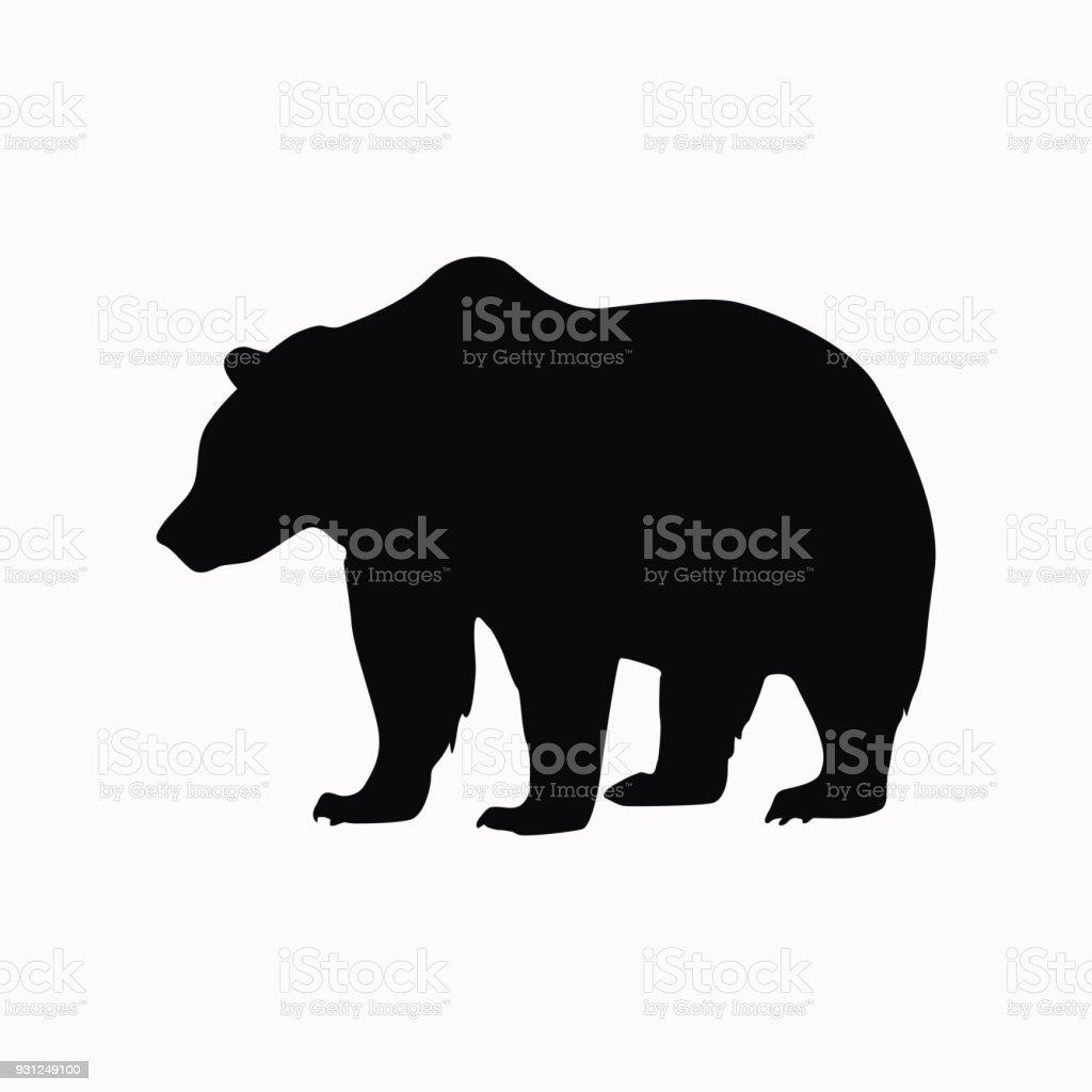 Ícone de vetor de urso. - ilustração de arte em vetor