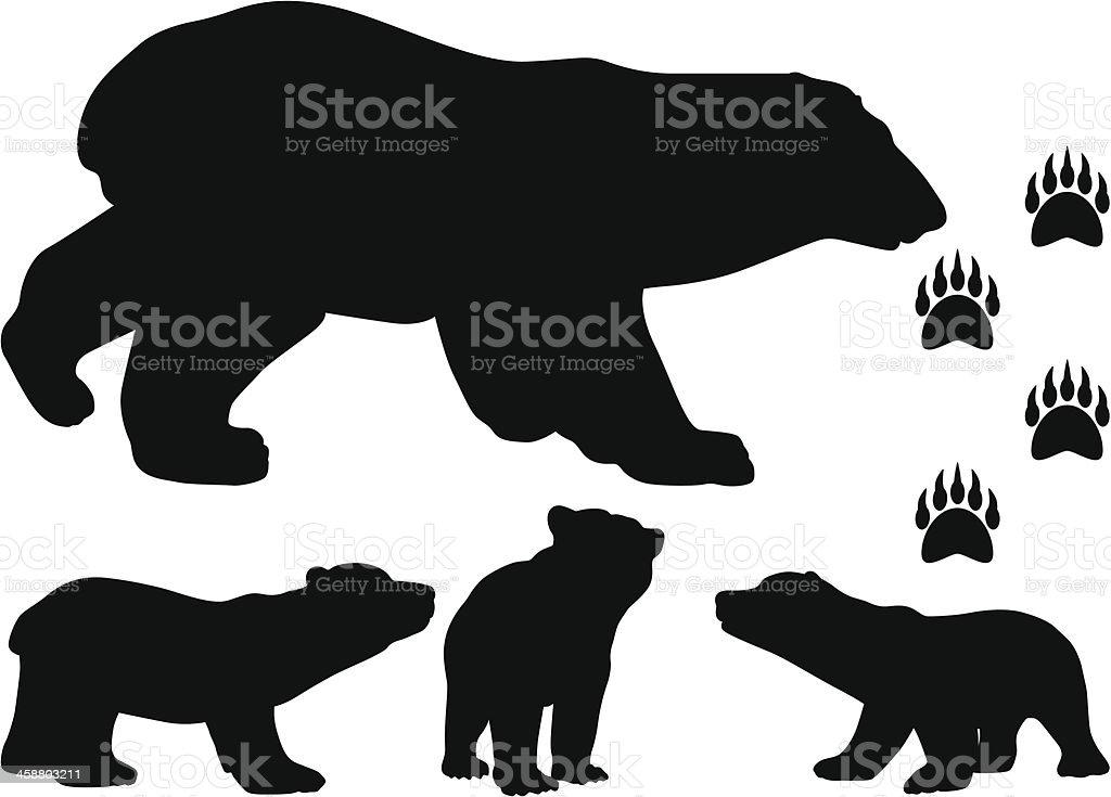Bear Bear silhouette Animal stock vector
