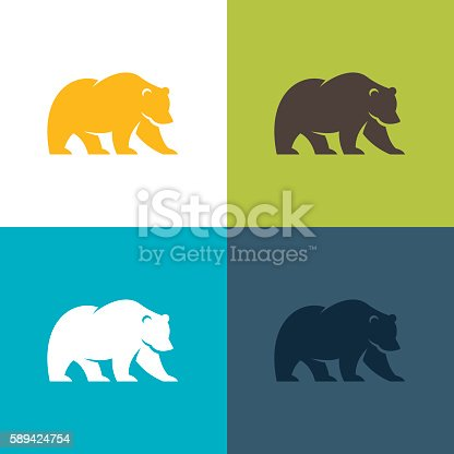 Bear symbol or icon.