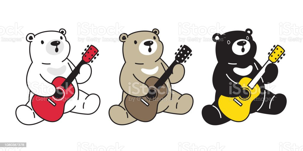 Royalty Free Cute Set Of Drawings Of Animals Playing Musical