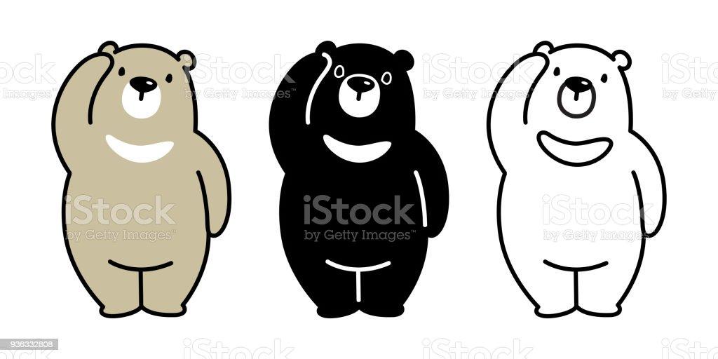 bear vector polar bear panda illustration camping character cartoon rh istockphoto com bear tattoo vector bear tattoo vector