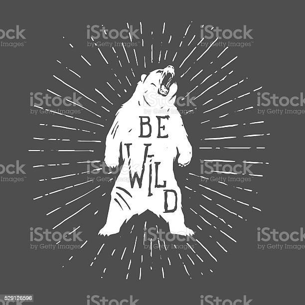 Bear vintage illustration with slogan vector id529126596?b=1&k=6&m=529126596&s=612x612&h=jqk0sl9pqrtel2 eratbiklqfjkvakbs4pc51kx00vm=