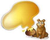 Bear with a pot of honey