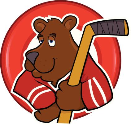 Bear with Hockey stick