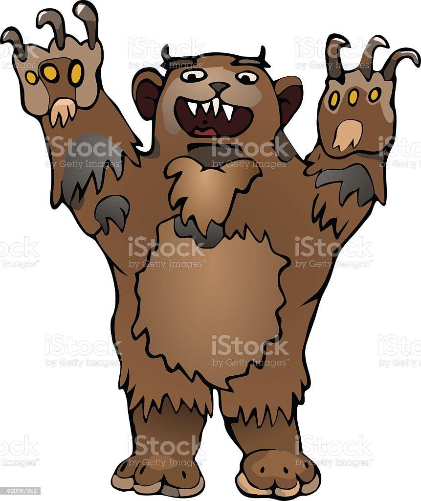 Bear with paws up ilustração de bear with paws up e mais banco de imagens de animais machos royalty-free