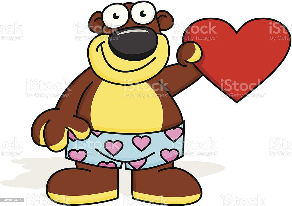 Bear your Heart royalty-free bear your heart stock vector art & more images of animal