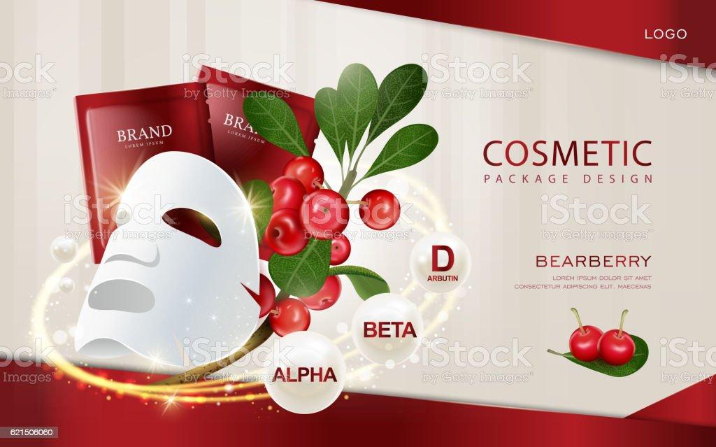 Bearberry cosmetic ads template Lizenzfreies bearberry cosmetic ads template stock vektor art und mehr bilder von beige