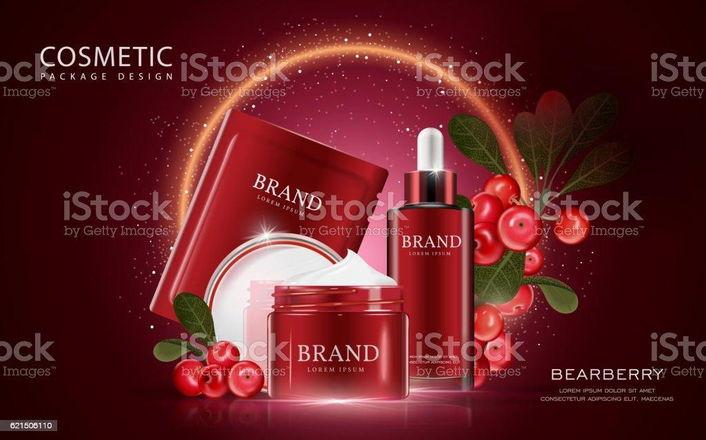 Bearberry cosmetic ads template bearberry cosmetic ads template - immagini vettoriali stock e altre immagini di beige royalty-free