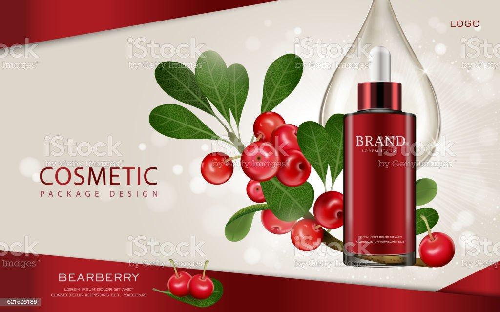 Bearberry cosmetic ads template bearberry cosmetic ads template - immagini vettoriali stock e altre immagini di acqua royalty-free