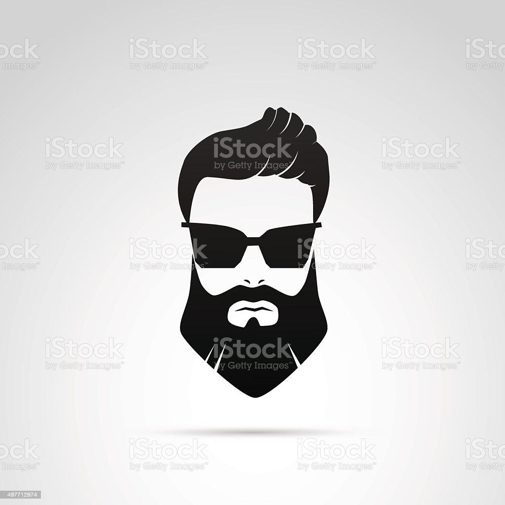 Barba ícone isolado no fundo branco. - ilustração de arte em vetor