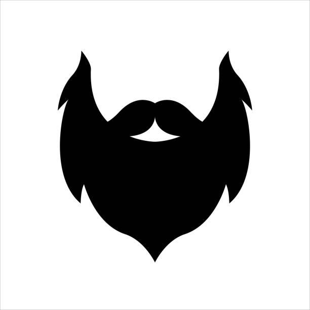 stockillustraties, clipart, cartoons en iconen met baard - baard