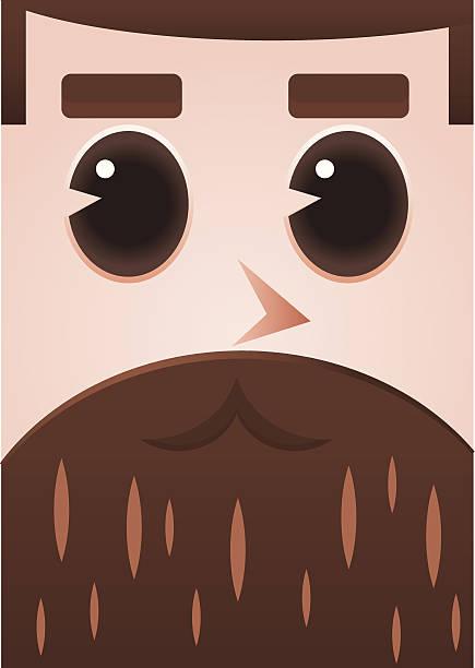 beard - old man long beard silhouettes stock illustrations, clip art, cartoons, & icons