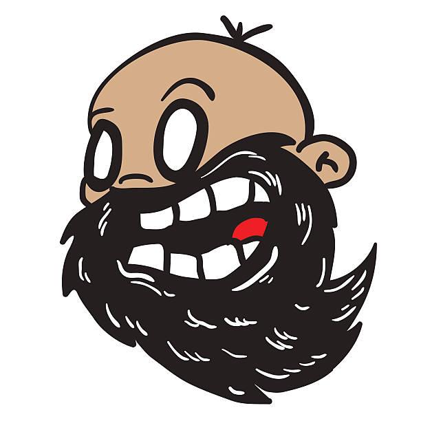 bearded bald man - old man crying clip art stock illustrations, clip art, cartoons, & icons