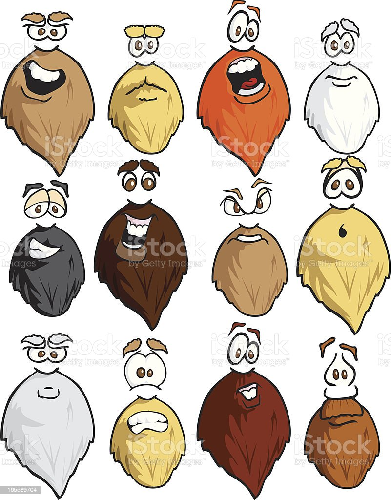 Bearded Expressions royalty-free stock vector art