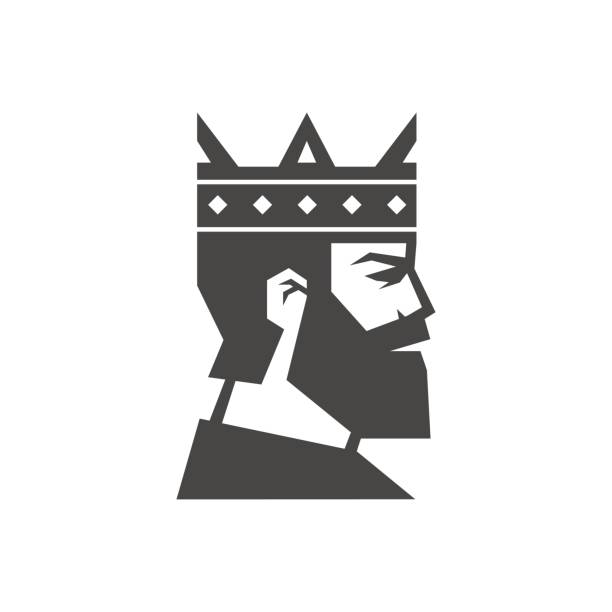 Bearded king. Logo Bearded king. Logo suave stock illustrations