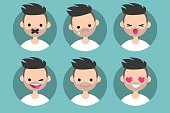 Bearded young man profile pics
