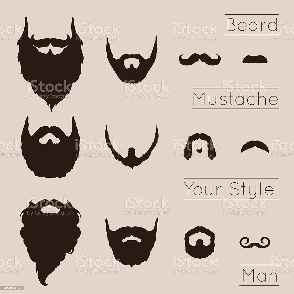 BARBAS y Mustaches juego - ilustración de arte vectorial