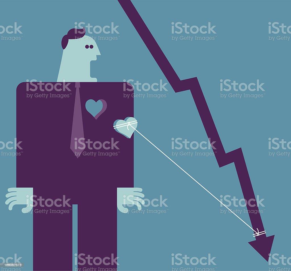 Bearish royalty-free stock vector art