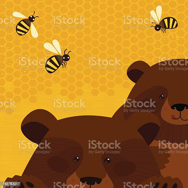 Bears And Honey Stock Illustration - Download Image Now