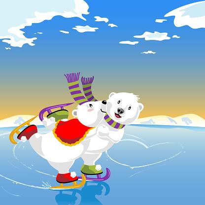 Bears Skating Romance