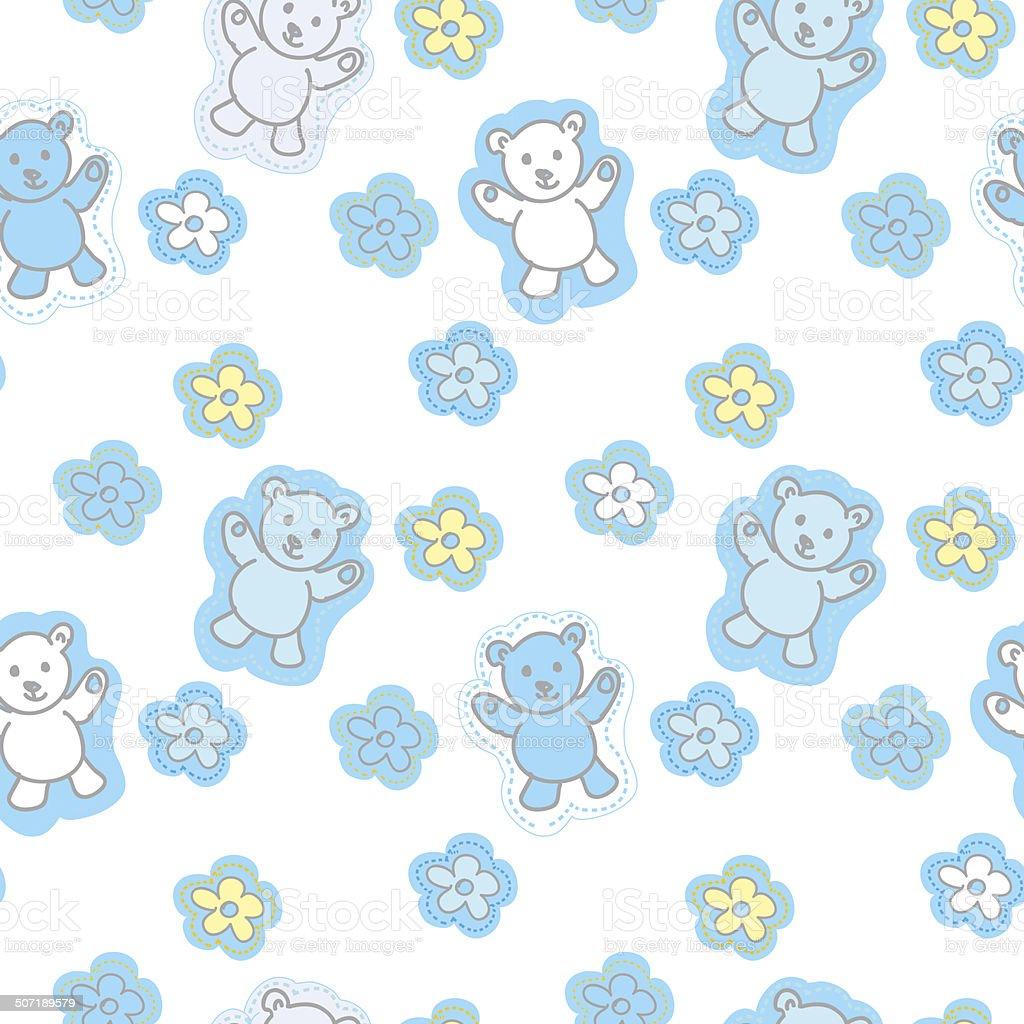 Ilustración de Patrón Sin Costuras De Juguetes Bears y más banco de ...