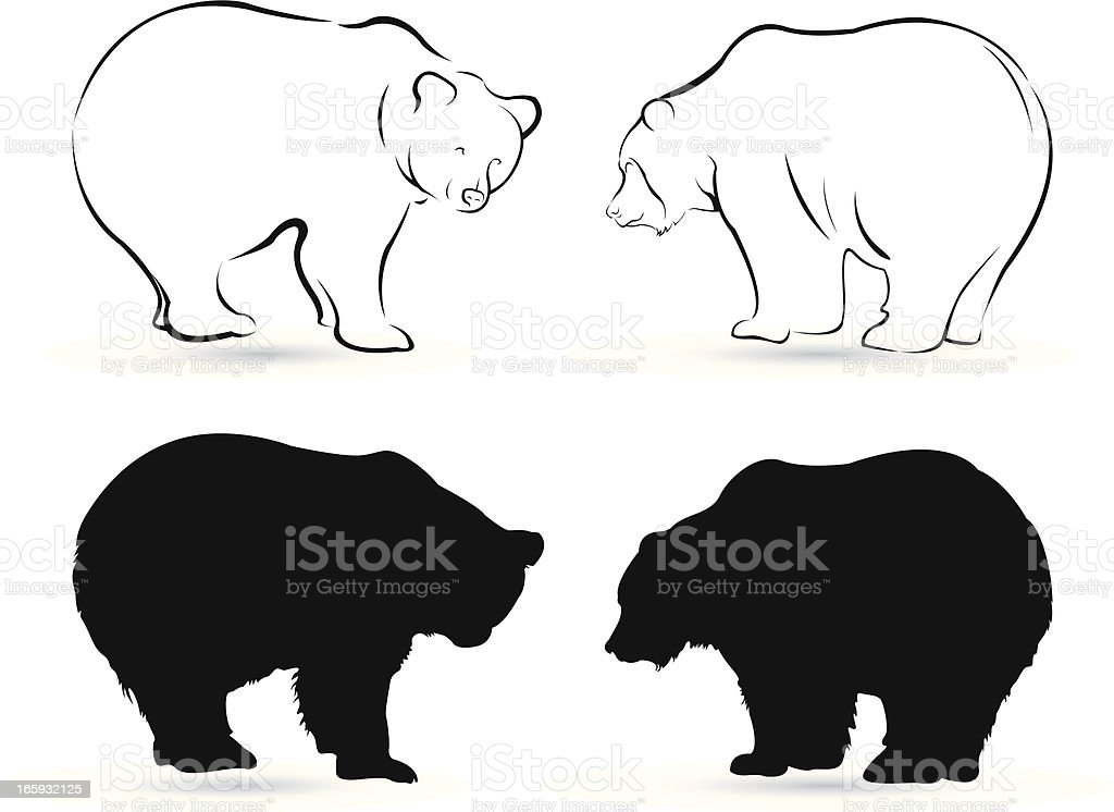 bears royalty-free stock vector art