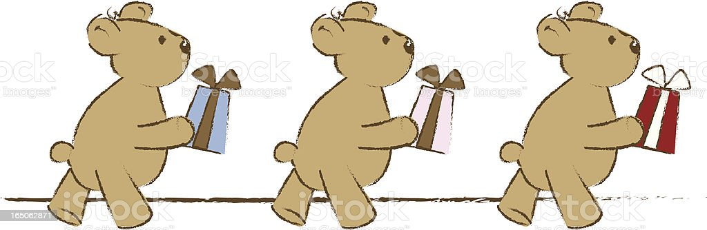 Bears with Gifts royalty-free stock vector art