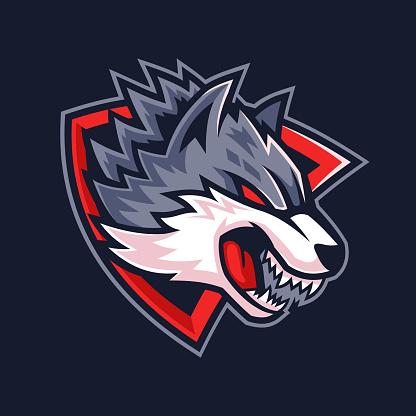Beast Wolf head team logo design