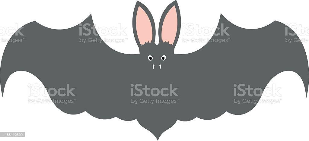 bat 3 vector art illustration