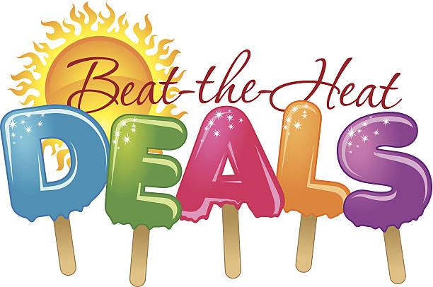 Beat Heat Heading vector art illustration