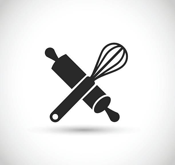 stockillustraties, clipart, cartoons en iconen met beater and roller icon vector illustration - ballonklopper