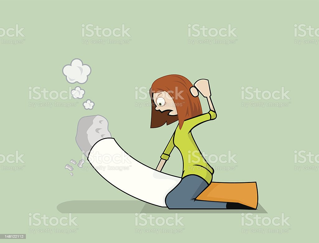 Beating the Smoking Habit royalty-free stock vector art