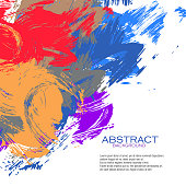 Beautifully created Abstract Background by professional fine artist.