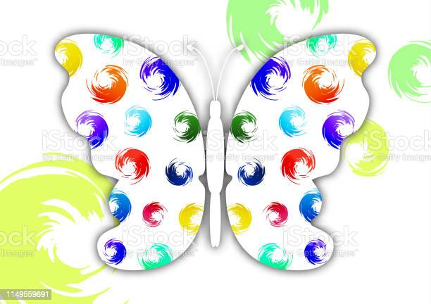 Beautiful abstract background with white butterfly silhouette on a vector id1149559691?b=1&k=6&m=1149559691&s=612x612&h=30smzfifbtukvc8dewd 1gz5ryey0nks31awv7bolam=