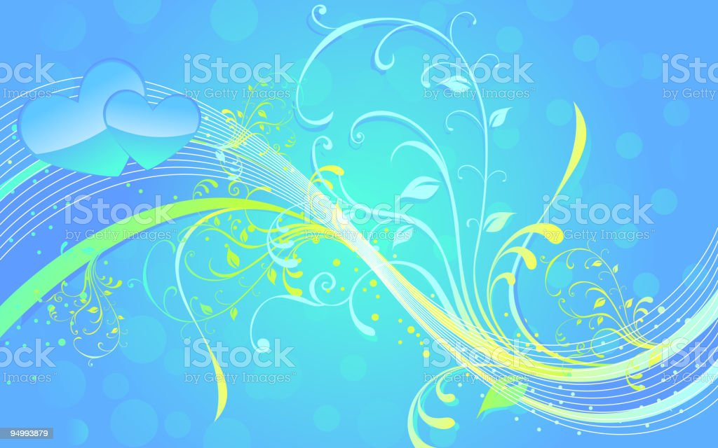 Beautiful Abstract Floral Background royalty-free stock vector art
